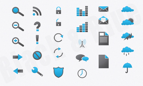 Black & Blue Icons