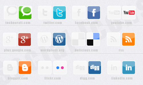 Social Icons hover